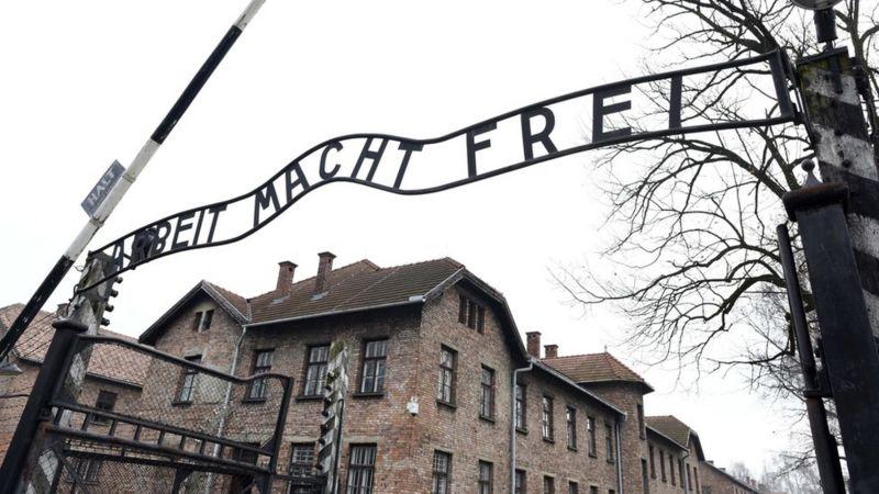 ворота лагеря Аушвиц