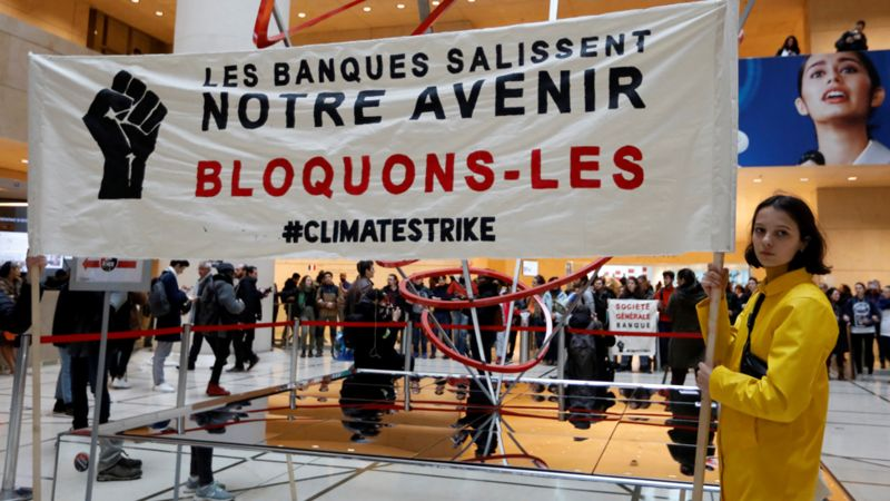 Youth climate protest in Paris