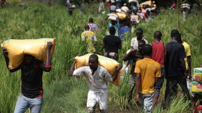 Why Nigerian looters are targeting Covid-19 aid _115079031_nigerialootings