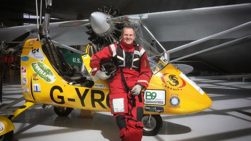 First autogyro round-the-world trip completed by Larne pilot