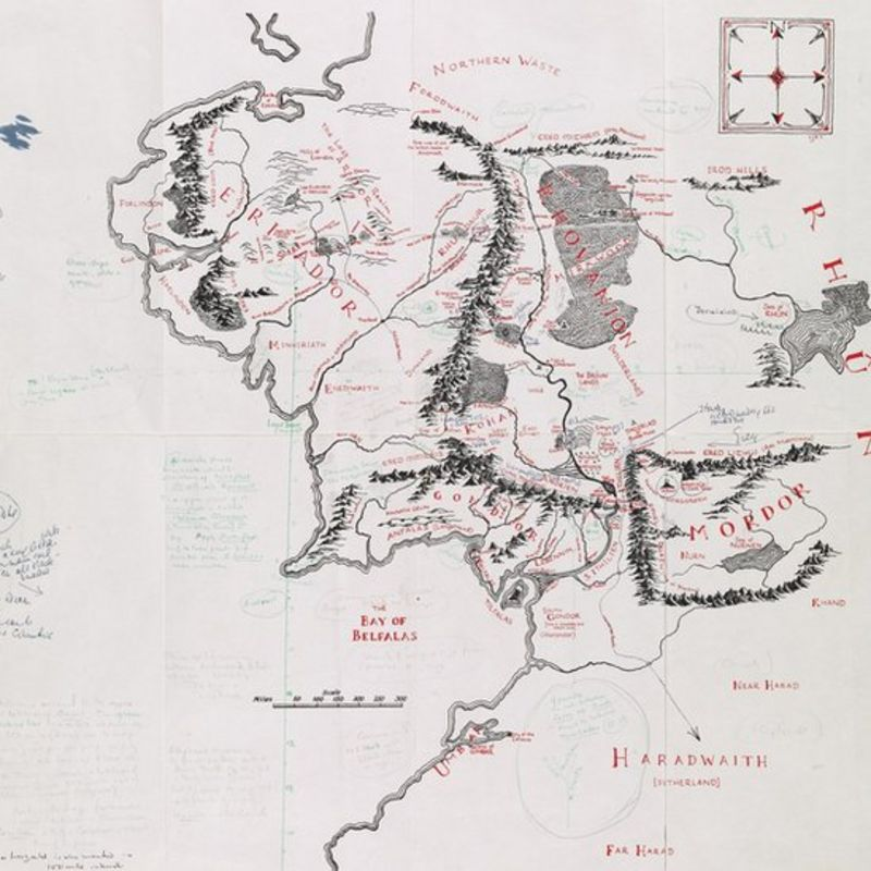 Pictures: Tolkien's Middle earth map goes on display   CBBC Newsround
