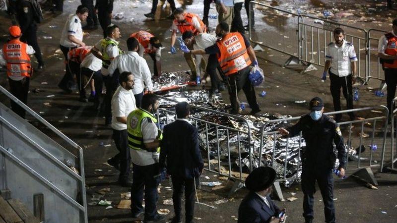 bbc التدافع في إسرائيل: مقتل عشرات في تدافع أثناء احتفال لاك بعومر الديني
