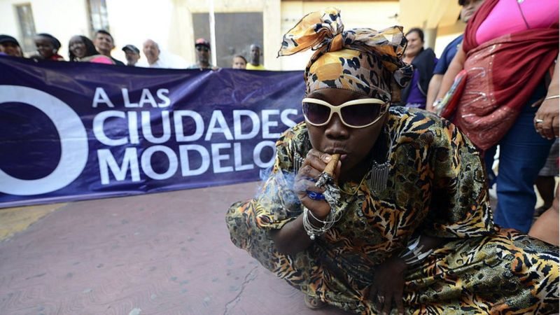 Protesta de garífunas por ciudades modelo