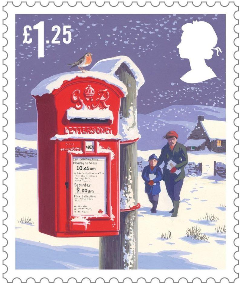Christmas Stamps.Royal Mail Reveals 2018 Christmas Stamps Cbbc Newsround