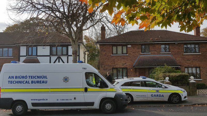 The house in Tudor Lawns has been cordoned off for forensic examination