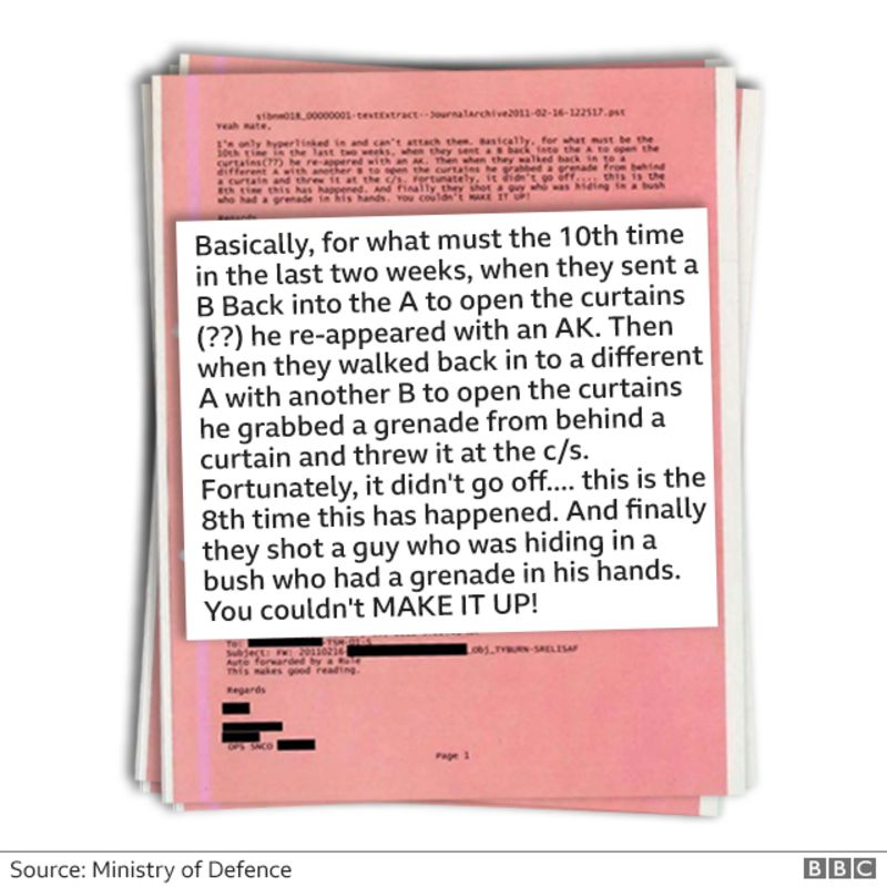 Emails from inside the British military