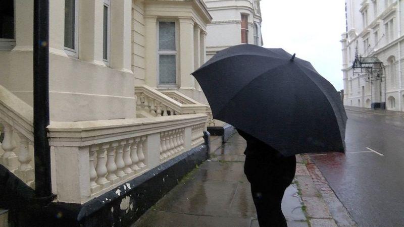 Jane outside Strathmore Hotel
