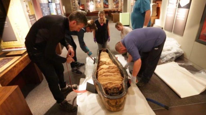 Nesyamuns mumie på Leeds museum. Bildkälla: Leeds Museum and Galleries.