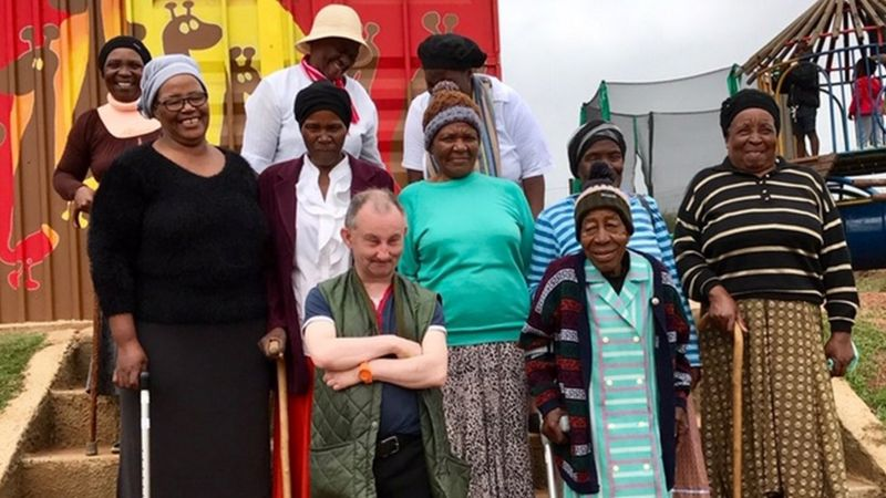 Hywel Davies, a resident at Clynfyw Care Farm, travelled to South Africa to visit a project