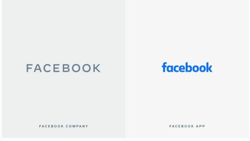 Marcas nova e antiga do Facebook