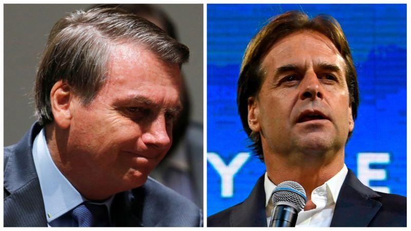 Jair Bolsonaro e Luis Lacalle Pou