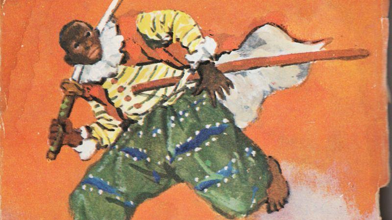Ilustração de Yasuke no livro Kuro-suke.