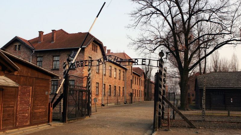 Poland asked to explain naked Nazi gas chamber video - BBC
