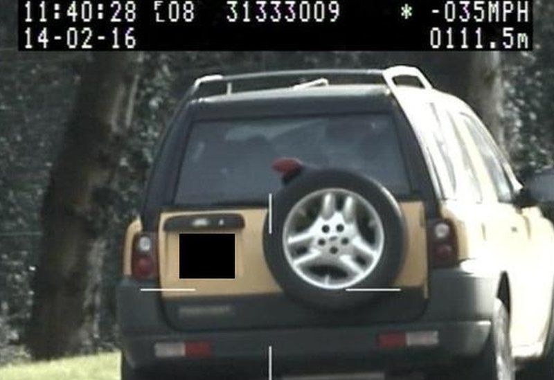 Christopher Henry caught speeding in Hampshire