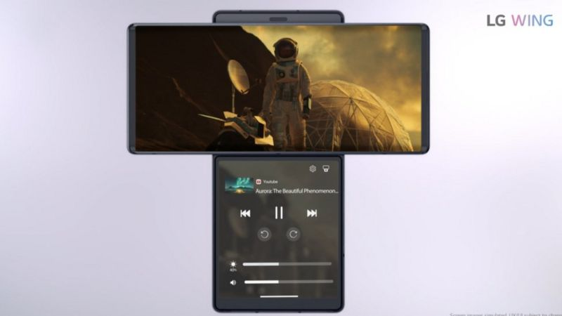 LG Wing smartphone has a swivel screen