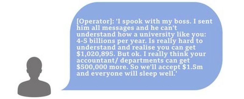 Conversa entre hackers Netwalker e UCSF