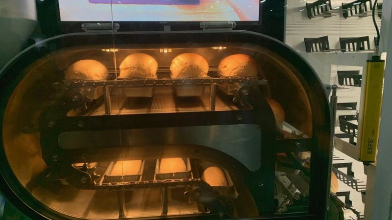 The Bread Bot bakes 10 loafs an hour.
