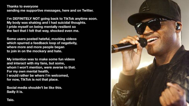 Taio Cruz says he was 'ambushed' by hate on TikTok - as he returns to music _115084545_taiocollage