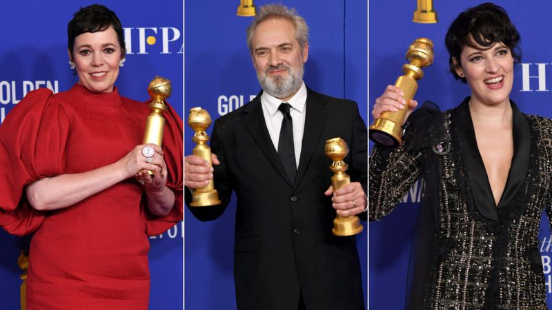 Olivia Colman, Sam Mendes and Phoebe Waller-Bridge