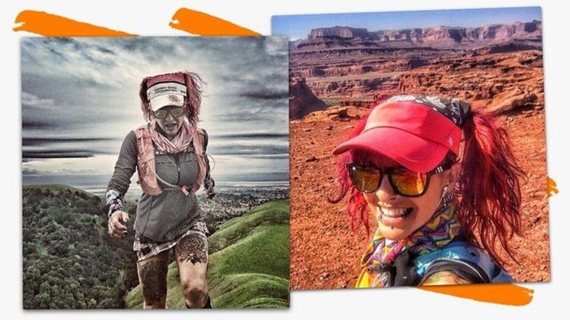 Catra corre na montanha e posa para foto no deserto