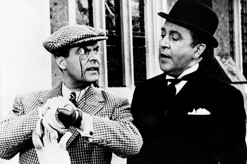 Ian Carmichael and Dennis Price in The World of Wooster in the 1960s