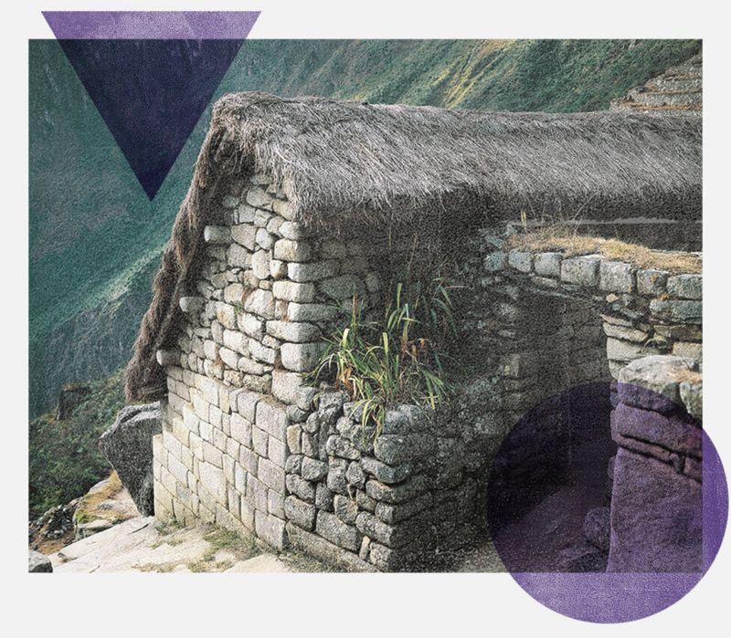Fotografía de una callanca en un camino inca.