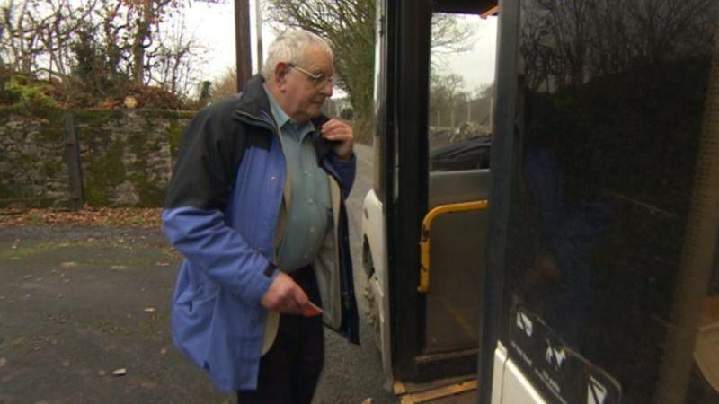 Photo of Hywel Jones catching his local bus