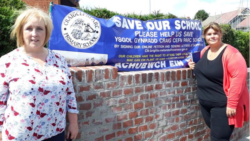 Tory AM Suzy Davies and Cllr Brigitte Rowlands are fighting to save the Craigcefnparc school