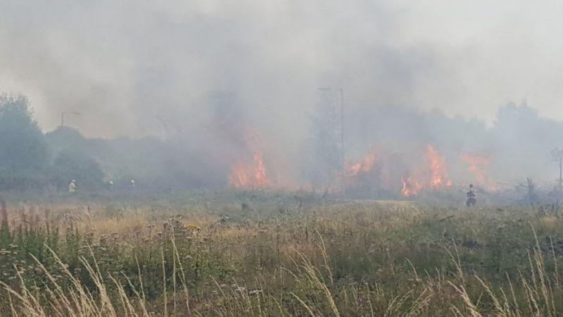 Grass fire near Garngoch