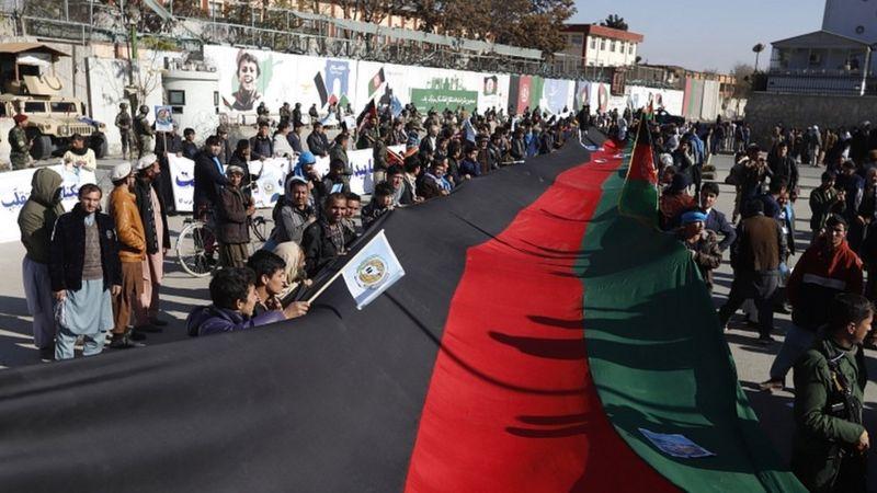 تطاهرات کابل به حمایت عبدالله عبدالله