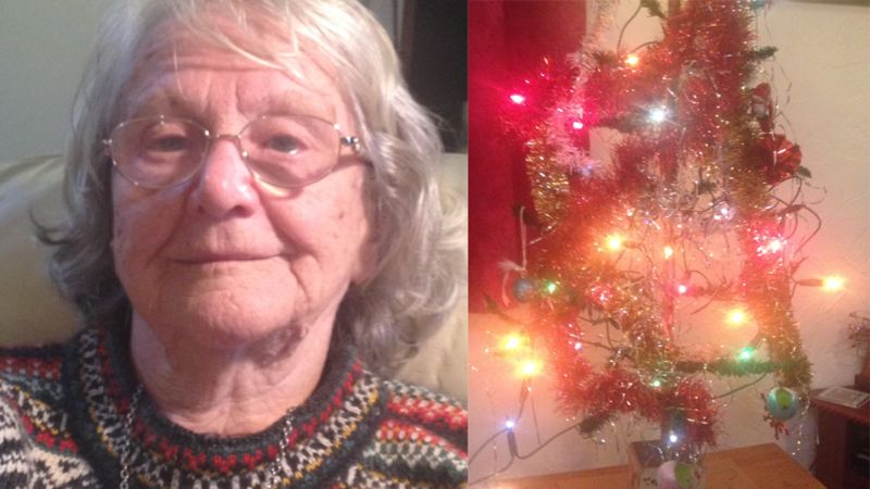 Joyce has had her Christmas tree for more than 80 years