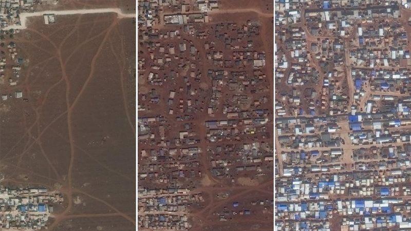 صور الأقمار الصناعية لمناطق في محافظة إدلب السورية