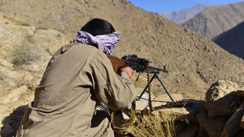 Пулеметчик антиталибского сопротивления в Панджшерской долине