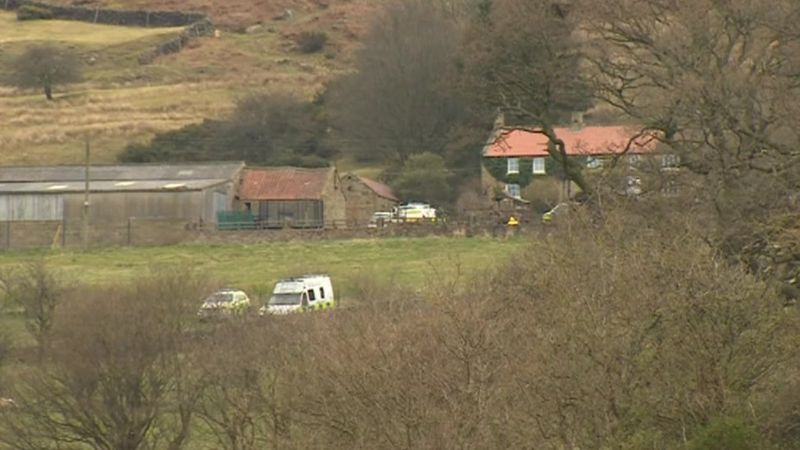 Police at Chop Gate in the North York Moors
