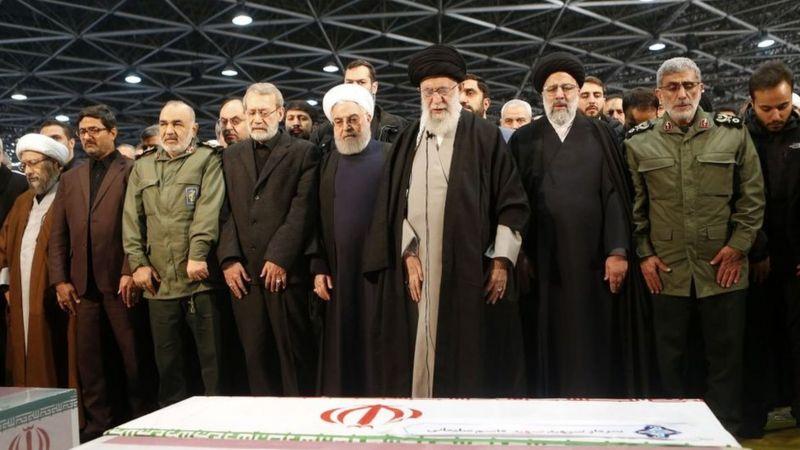 Principais líderes do Irã presentes ao velório de Qassam Soleimani