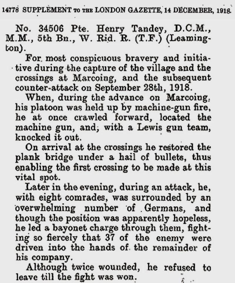 London Gazette clipping
