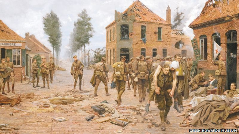 Painting of Menin crossroads