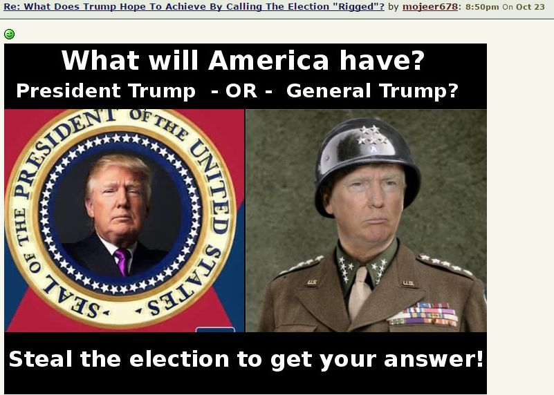 Image of Trump as a general