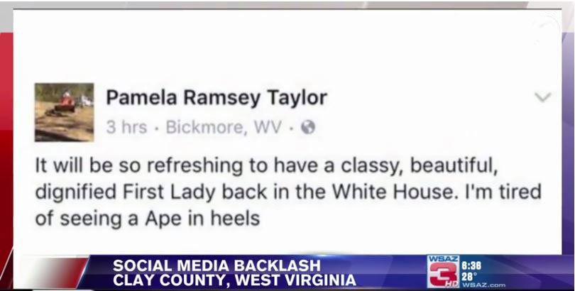 Screenshot of the Facebook post, taken from WSAZ 3 news channel