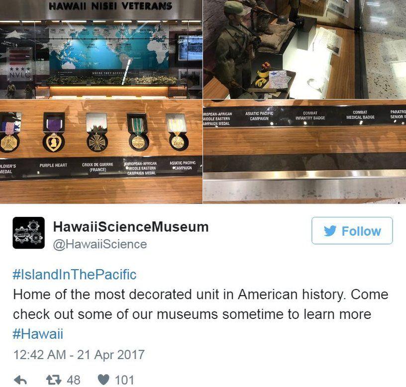 Screen grab of tweet by @HawaiiScience