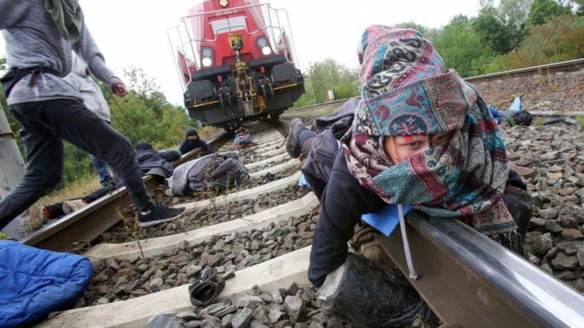 Climate activists block train outside German VW car plant
