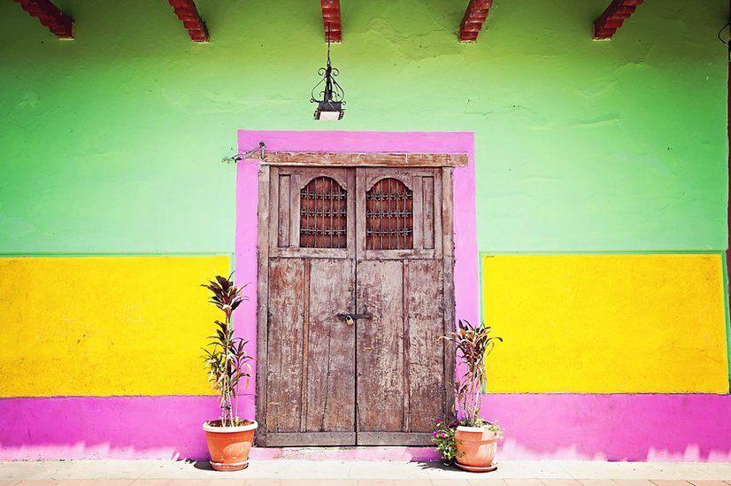 Colured doorway