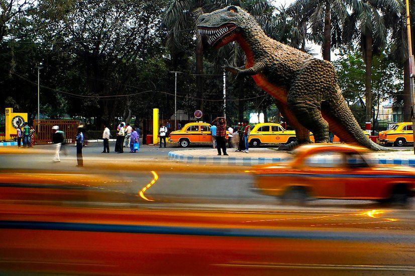 Model dinosaur in Kolkata