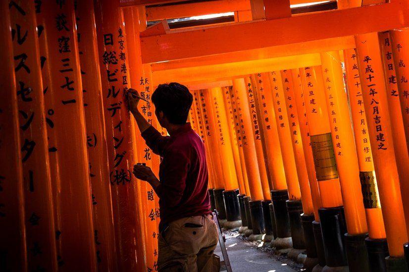 Craftsman at a shrine