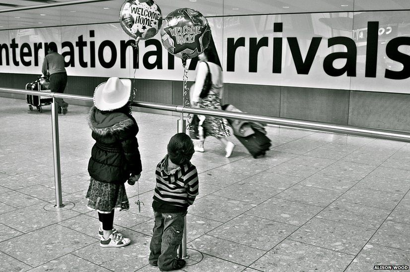 Arrivals at an airport