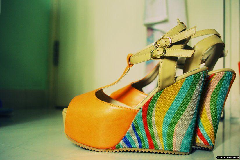 Rainbow high heels