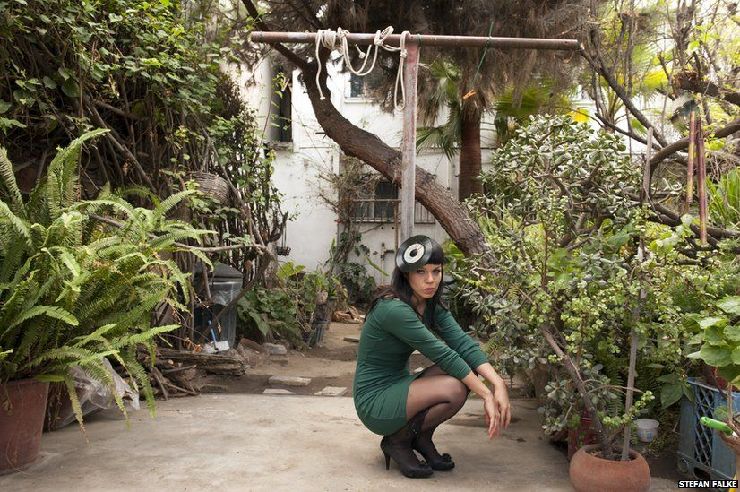 Siki Carpio is the front woman and founder of the band Cristina Creme, seen here at her house in Tijuana, Baja California, Mexico.