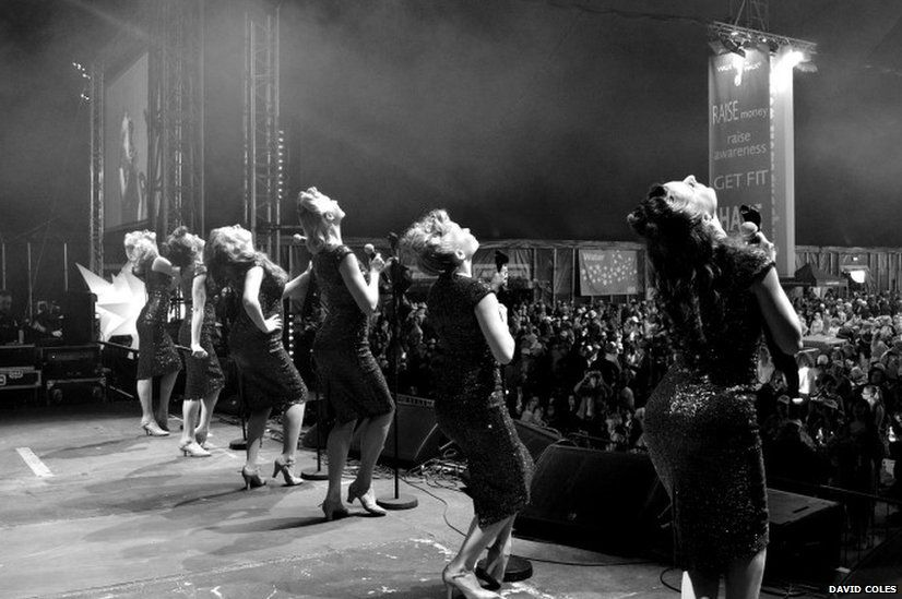 Tootsie Rollers on stage