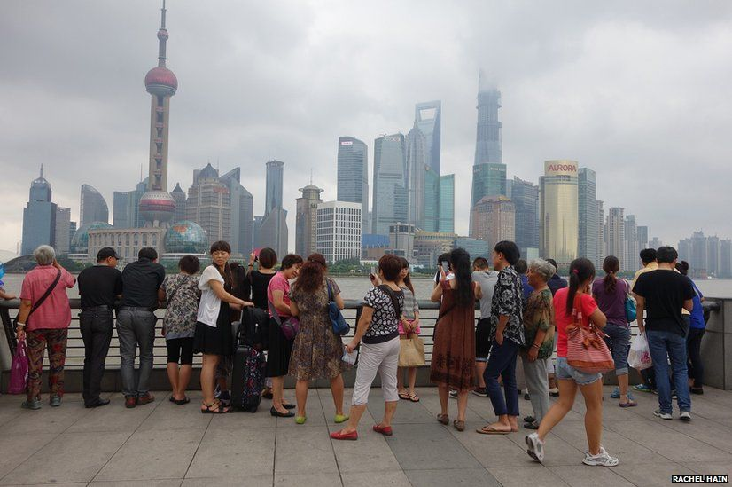 View of the Pudong skyline taken from the Bund