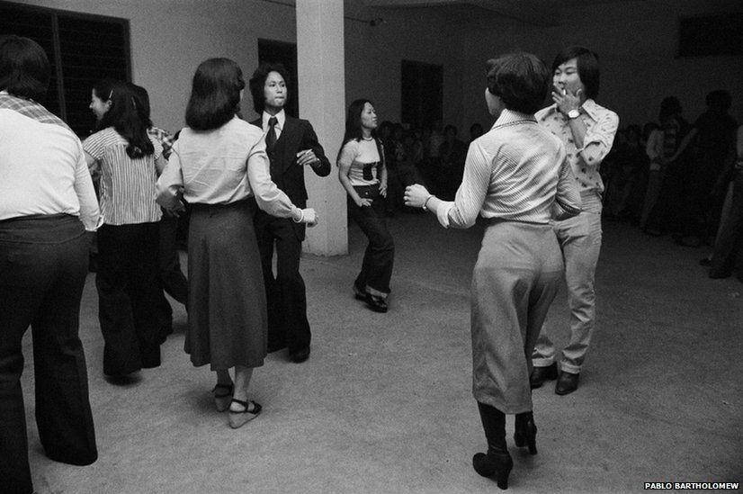 Christmas dance, Chinatown, 1978